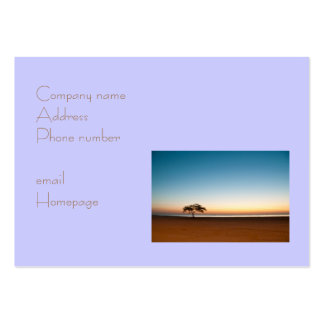 Lonely tree at sunrise in Kuwait Business Card