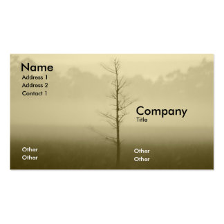 Lonely Tree Double-Sided Standard Business Cards (Pack Of 100)