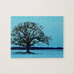 Lonely Tree in a Winter Landscape Jigsaw Puzzle