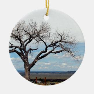 Lonely tree - New Mexico. Ceramic Ornament