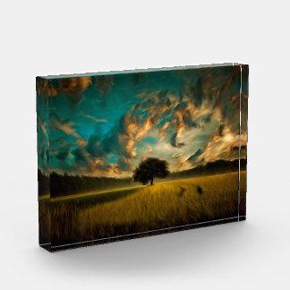 Lonely tree painting acrylic award