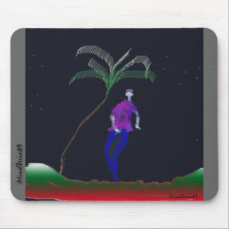 Lonely Walk Flute in Hand Mouse Pad