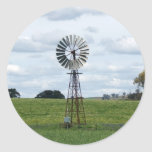 Lonely Windmill Classic Round Sticker