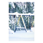 Lonely Winter Swing Stationery Paper