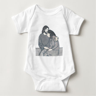 Lonely woman meets God Baby Bodysuit