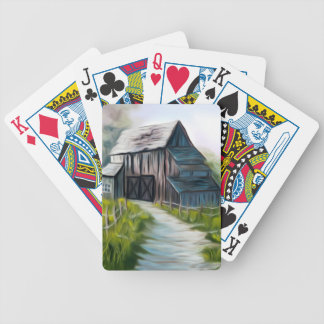 Lonely Wooden Barn Bicycle Playing Cards