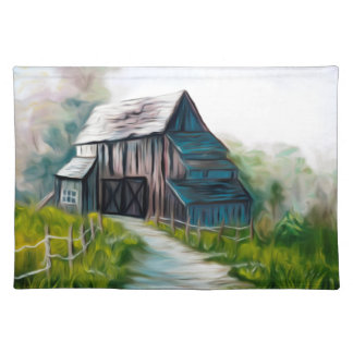 Lonely Wooden Barn Placemat