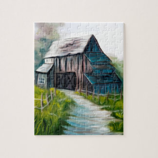 Lonely Wooden Barn Puzzle