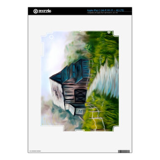 Lonely Wooden Barn Skins For iPad 3