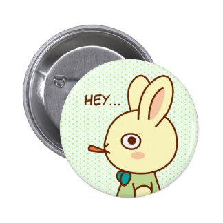 Loner Rabbit 2 Inch Round Button