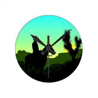 Lonesome Cowboy Clock