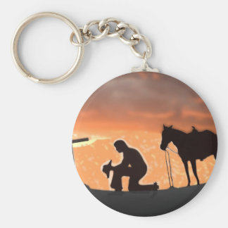 Lonesome Cowboy Keychain