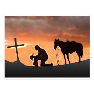 Lonesome Cowboy Postcard