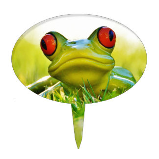 Lonesome Frog In The Grass Cake Topper
