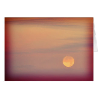 Lonesome - full moon in an orange sky card