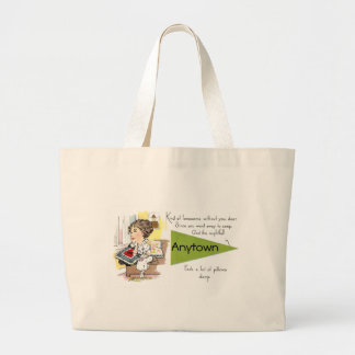 Lonesome Lady Missing Her Beau Large Tote Bag