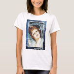 Lonesome Land Vintage Sheet Music Blue T-Shirt