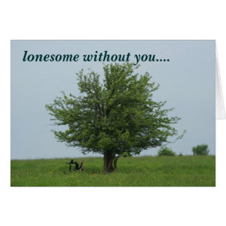 lonesome tree card
