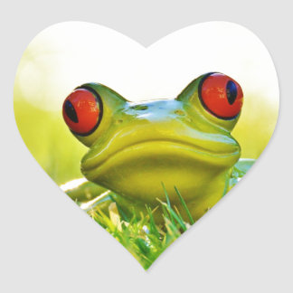 Lonesome Tree Frog In The Grass Stickers