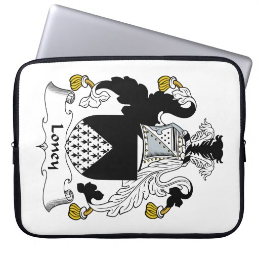 Loney Family Crest Laptop Sleeves