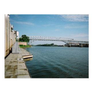 Long-Allen Bridge over the Red River Postcard
