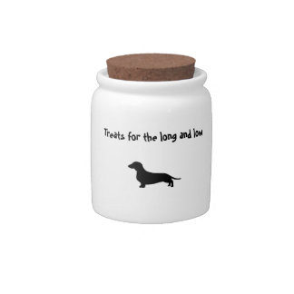 Long and Low dachshund treat jar Candy Dish