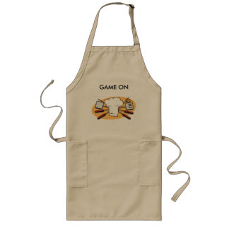 Long apron for cooking.