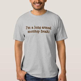 long armed monkey freak! tshirts