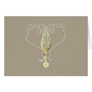 Long-armed Squid Greeting Card