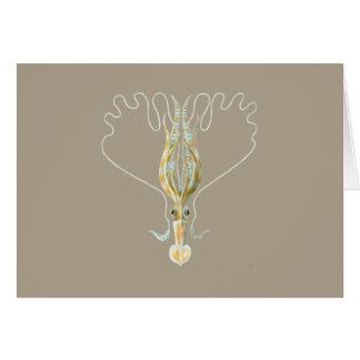 Long-armed Squid Greeting Cards