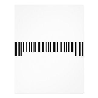 long bar code label icon letterhead