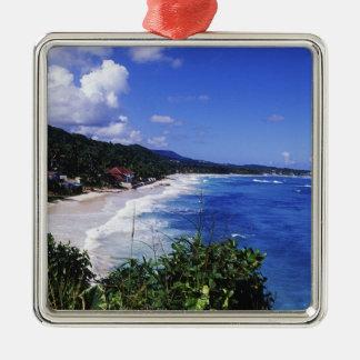 Long Bay, Port Antonio, Jamaica Metal Ornament
