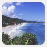 Long Bay, Port Antonio, Jamaica Square Sticker