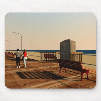 Long Beach Boardwalk, Long Island, New York Mouse Pad