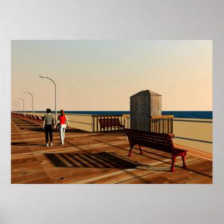 Long Beach Boardwalk, Long Island, New York Poster