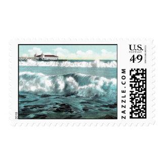 Long Beach Breakers Postage Stamp