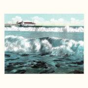 Long Beach Breakers Vintage Postcard