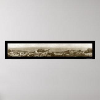 Long Beach CA Fleet Photo 1908 Posters