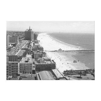 Long Beach, California Coastline and Beach Canvas Print