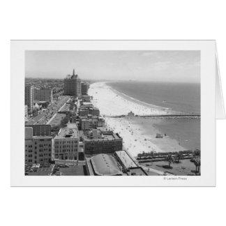 Long Beach, California Coastline and Beach Card