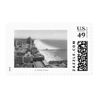 Long Beach, California Coastline and Beach Postage Stamps