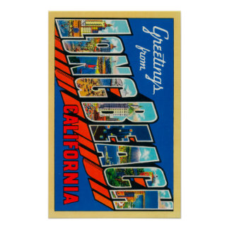 Long Beach, California - Large Letter Scenes Poster
