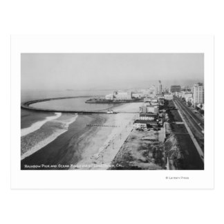 Long Beach, California Rainbow Pier and Ocean Postcard