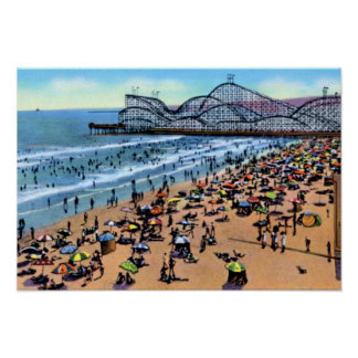 Long Beach California The Pike Cyclone Racer Poster