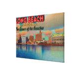 Long Beach, California - The Queen of Beaches Gallery Wrap Canvas
