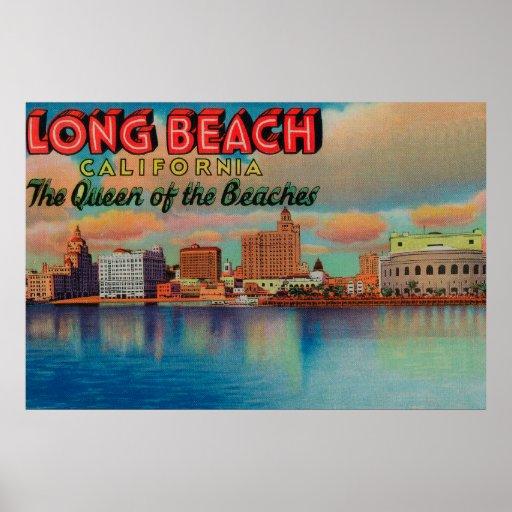 Long Beach, California - The Queen of Beaches Poster
