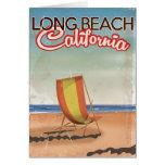 Long Beach California vintage travel poster Card