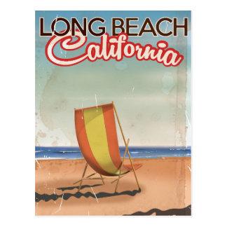 Long Beach California vintage travel poster Postcard
