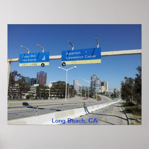 Long Beach céntrica Posters