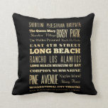 Long Beach City of California State Typography Art Pillow